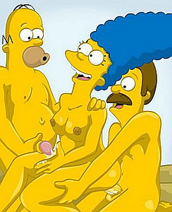 Homer, Marge and neighbour