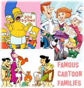 Famous cartoon families