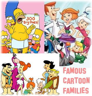 Famous cartoon families