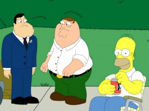 American Dad, Family Guy & The Simpsons - my favorite cartoon characters!!