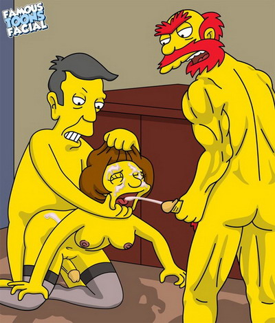 Edna Krabappel group sex toons