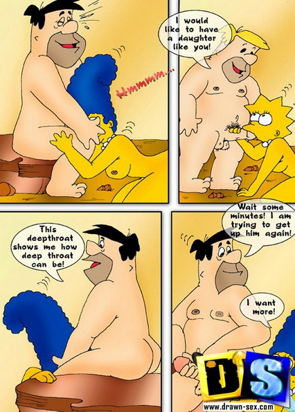 Marge Simpson & Fred Flintstone
