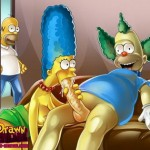 Simpsons in bed - hot toons