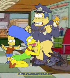 Marge sucks Chief Clancy dick