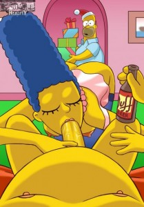 Marge Simpson home blowjob
