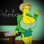 Edna Krabappel is pornstar : Edna Krabappel Springfield Sluts