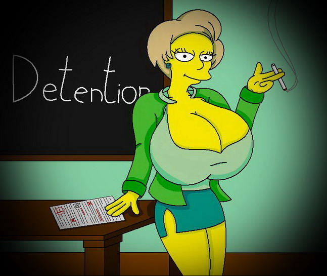 Not pleasant Sexy naked simpson teacher and bart