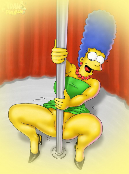 Marge like sexy stripper