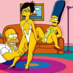 The Simpsons like hentai : Homer Simpson Marge Simpson The Simpsons