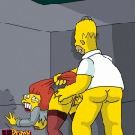Homer likes to fuck redheaded babe : Homer Simpson Redhead secretary