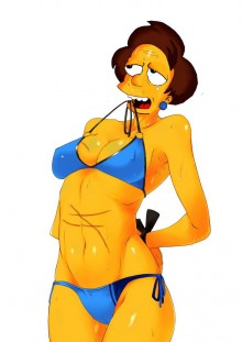 Edna Krabappel sexy show : Edna Krabappel Springfield Sluts