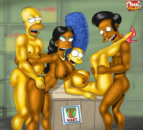 Check out the Simpsons porn ! : Apu from Kwik-E-Mart Manjula Springfield People Springfield Sluts