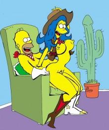 Big sex for busty slut : Marge Simpson